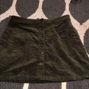 army green corduroy skirt
